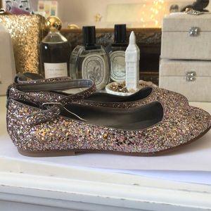 Zara girls glitter ballerina flats!